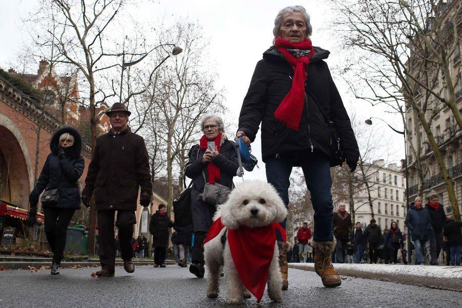Les manifestants de la «Marche républicaine des libertés», dimanche à Paris.