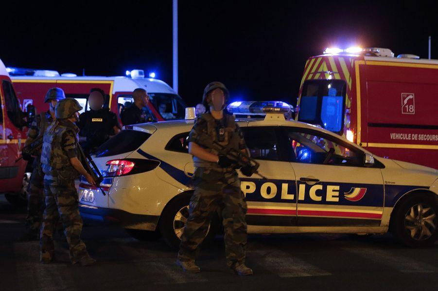 Le chauffeur d'un camion a foncé dans la foule réunie sur la Promenade des Anglais, à Nice, le 14 juillet.