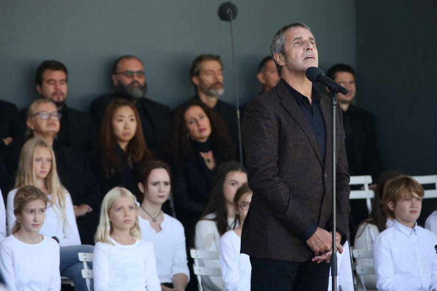 Julien Clercà l'hommage rendu aux 86 victimes de l'attentat de Nice, le 15 octobre 2016.