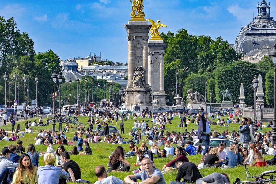 Dimanche 25 mai 2020, à Paris.