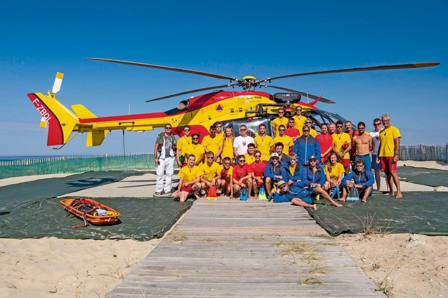 Dragon 33, l'hélicoptère de la Sécurité civile.