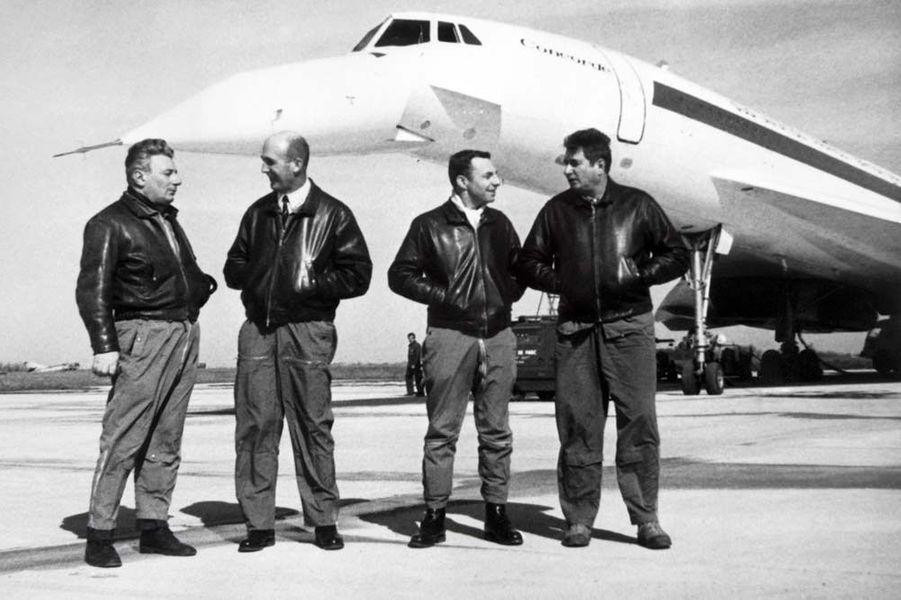 Michel Retif, Andre Turcat, Henri Perrier et Jacques Guignard constituaient la première équipe du Concorde