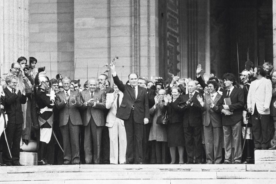 François Mitterrand au Panthéon, en 1981.