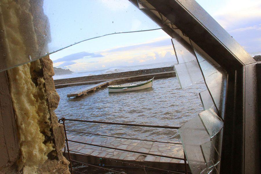 Un restaurant àErbalungaa subi de nombreux dégâts après le passage de la tempête Adrian