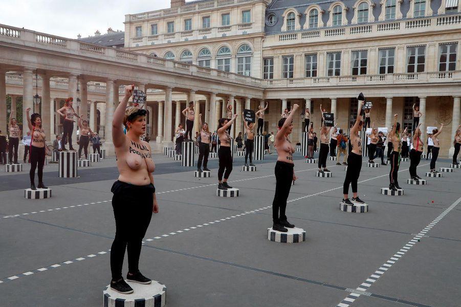 Action des Femen à Paris, le 30 mai 2019.