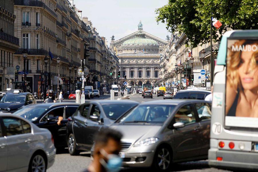 L'avenue de l'Opéra après le déconfinement