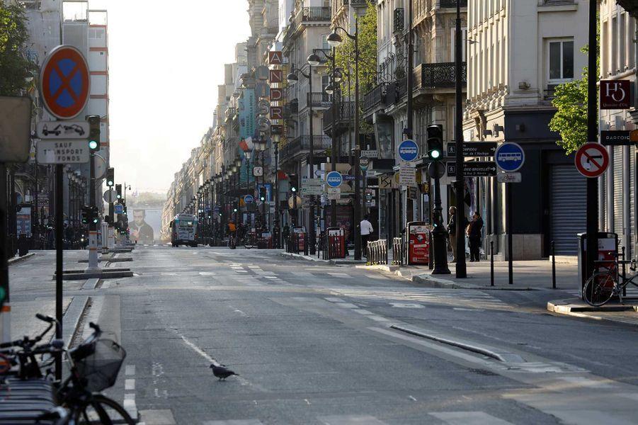 Rue Rivoli pendant le confinement