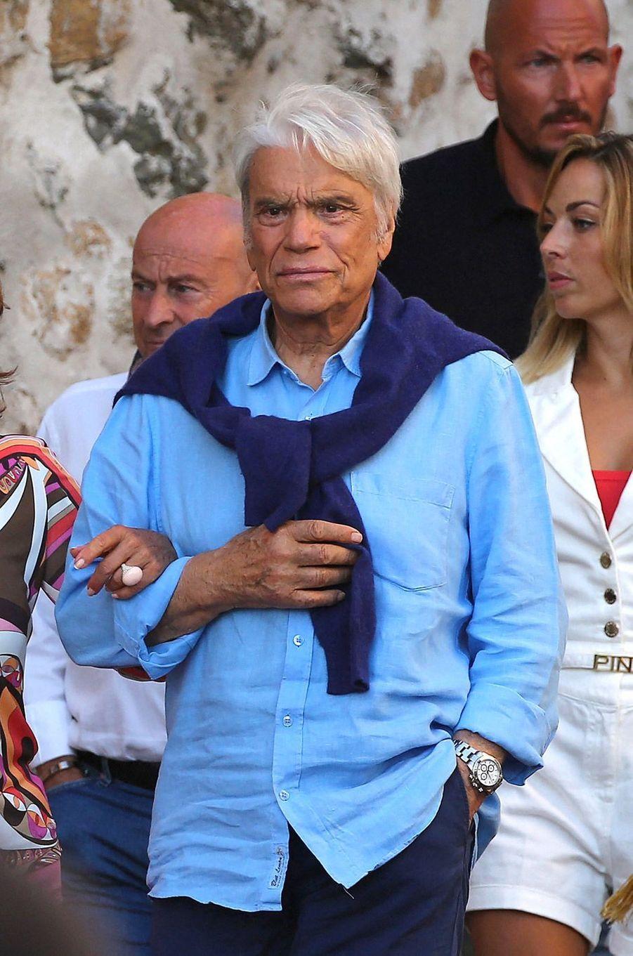 Bernard Tapie, mercredi à Saint-Tropez.