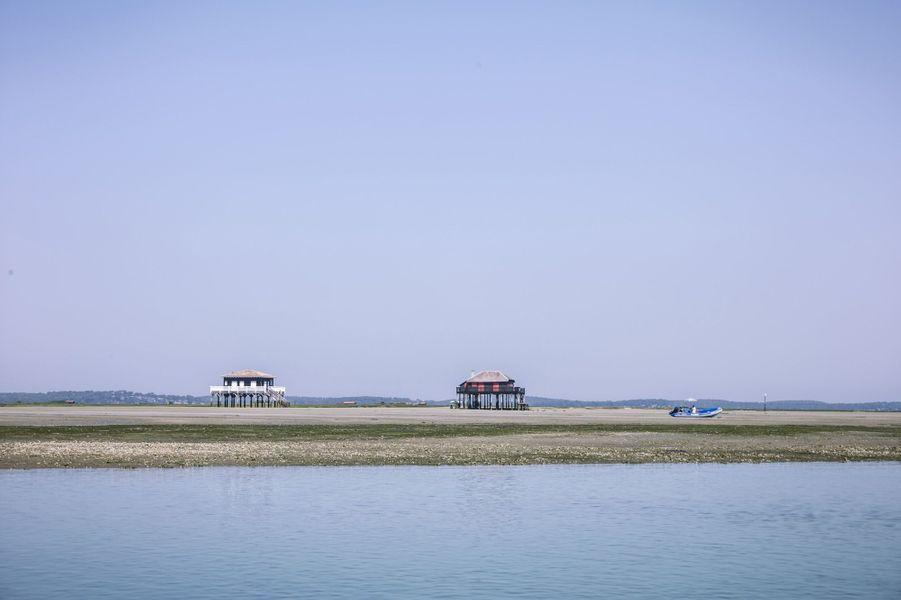 Les cabanes tchanquées de l'île aux Oiseaux.