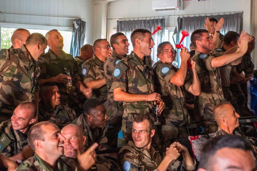 Des militaires de l'opération Daman, au Liban, dimanche.