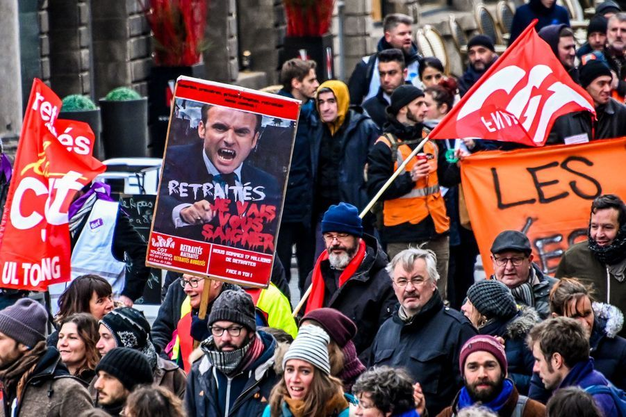 La manifestation à Lille, mardi.