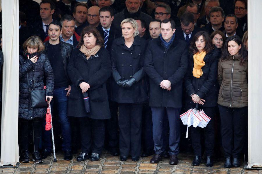 Marine Le Pen et Nicolas Bay.