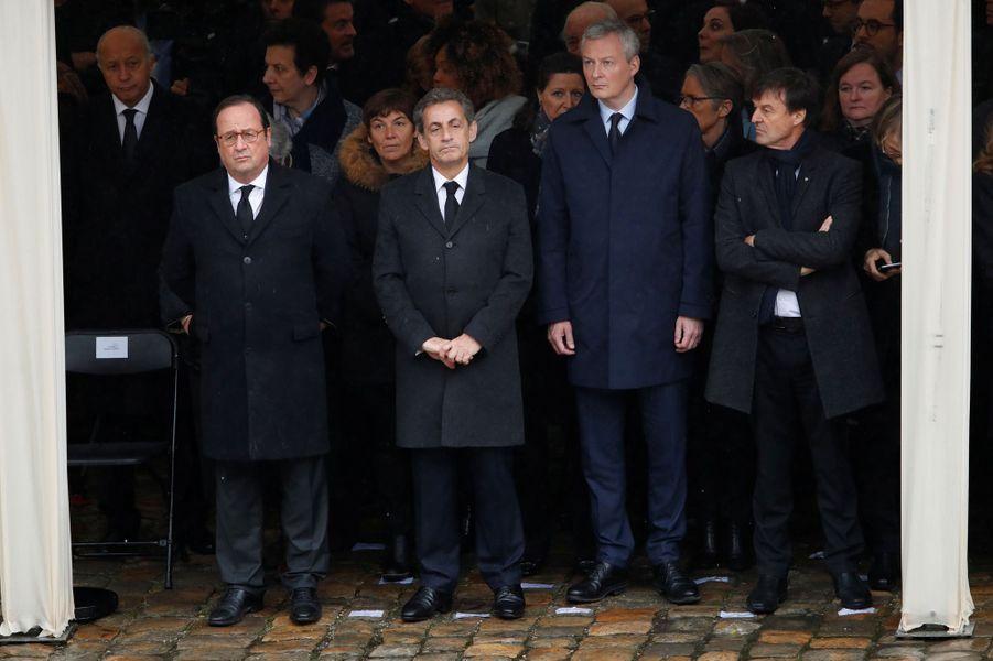 François Hollande, Nicolas Sarkozy et Bruno Le Maire.