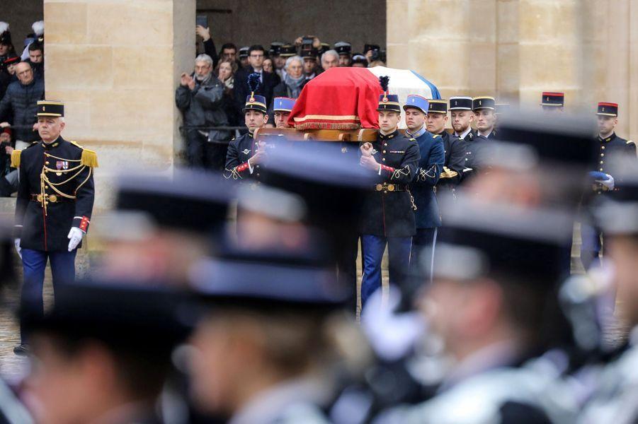 Un hommage national est rendu ce mercredi à Arnaud Beltrame.