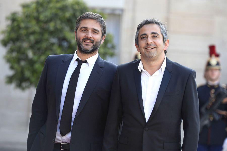 Eric Toledano et Olivier Nakache à l'Elysée pour le dîner d'Etat donné en l'honneur du roi Felipe et de la reine Letizia d'Espagne