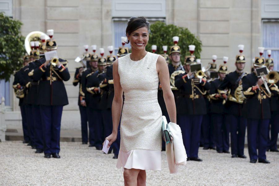 Ines Sastre à l'Elysée pour le dîner d'Etat donné en l'honneur du roi Felipe et de la reine Letizia d'Espagne