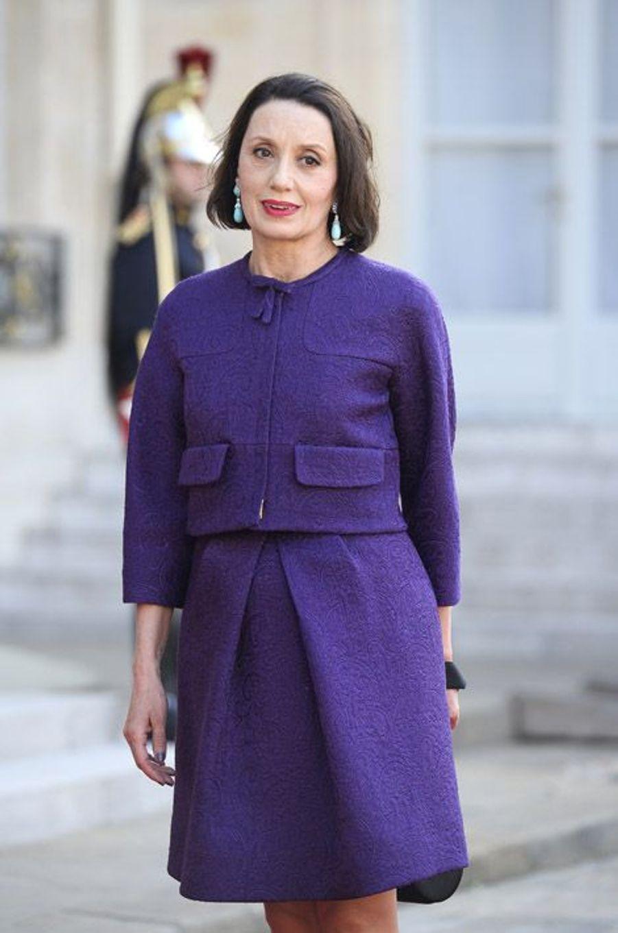 Luz Casal à l'Elysée pour le dîner d'Etat donné en l'honneur du roi Felipe et de la reine Letizia d'Espagne