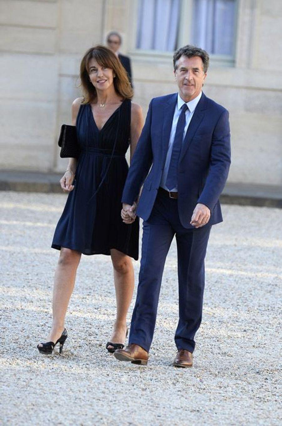 Narjiss et François Cluzet à l'Elysée pour le dîner d'Etat donné en l'honneur du roi Felipe et de la reine Letizia d'Espagne