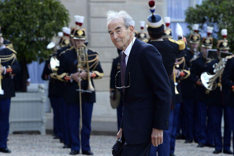 Robert Badinter à l'Elysée pour le dîner d'Etat donné en l'honneur du roi Felipe et de la reine Letizia d'Espagne