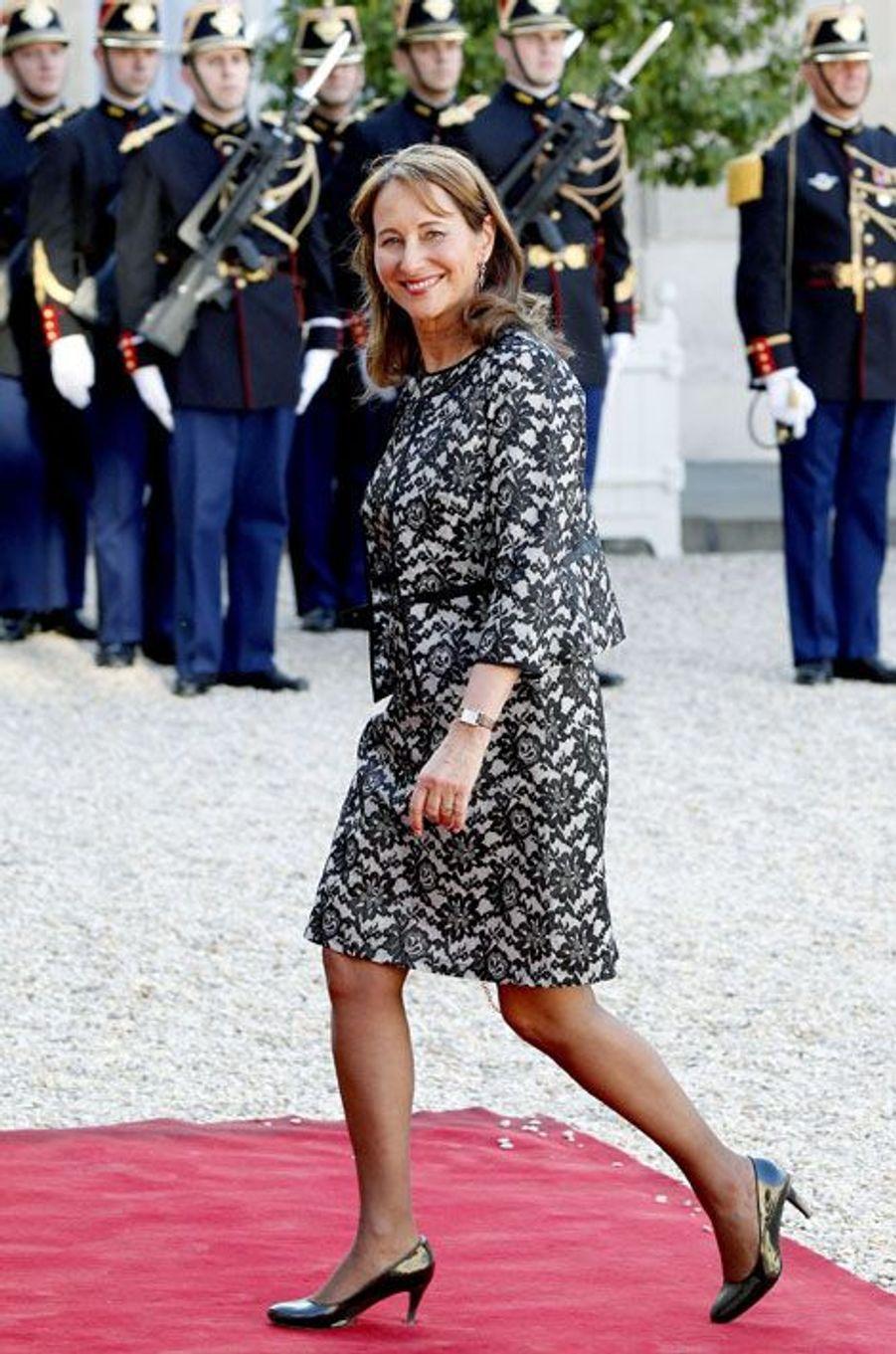 Ségolène Royal à l'Elysée pour le dîner d'Etat donné en l'honneur du roi Felipe et de la reine Letizia d'Espagne
