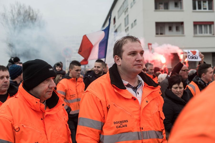 Photo prise lors de la manifestation des riverains, à Calais, samedi