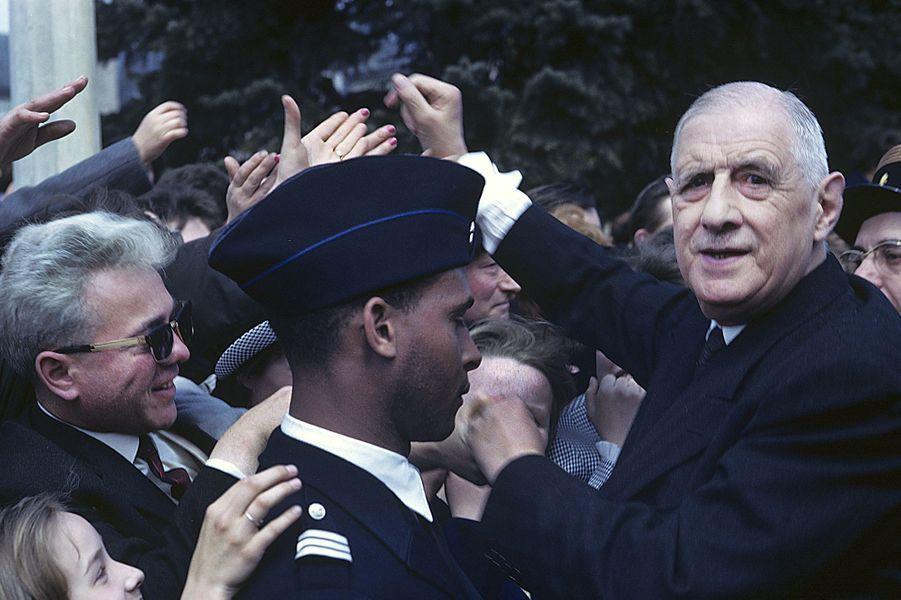 Charles de Gaulles, dans l'est de la France, avril 1963