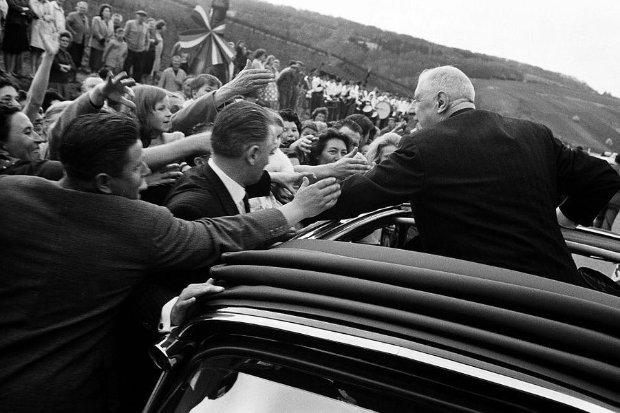 Le président de la République en voyage officiel en Champagne, avril 1963