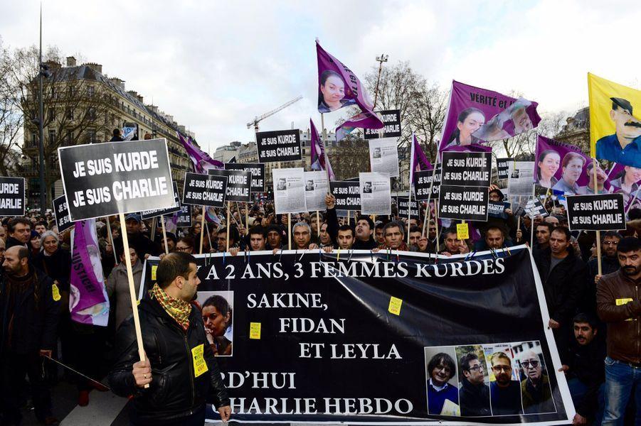 """""""Nos trois camarades ont été assassinées par la haine il y a deux ans également par la haine et l'extrémisme. Nous nous battons contre toute forme de barbarie."""""""