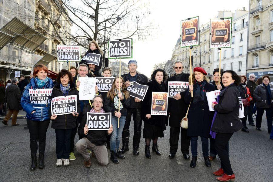 Groupe de dessinateurs et journalistes, amis et soutiens de Michel Renaud