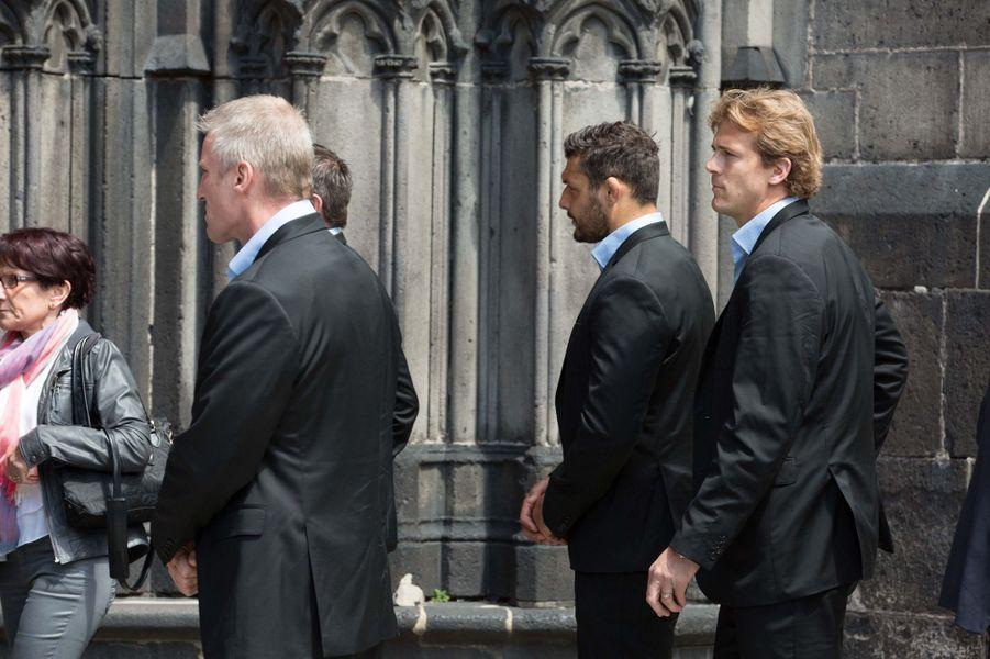 Aurélien Rougerie aux obsèques de François Michelin à Clermont-Ferrand