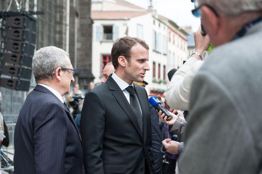 Emmanuel Macron aux obsèques de François Michelin à Clermont-Ferrand