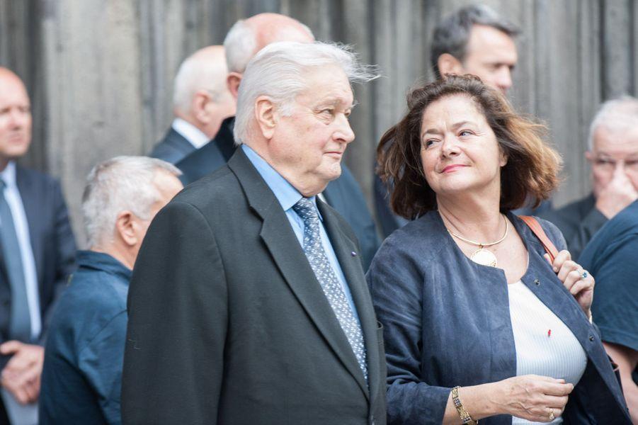Jean-Yves Gouttebel et Claire Dorland-Clauzel aux obsèques de François Michelin à Clermont-Ferrand