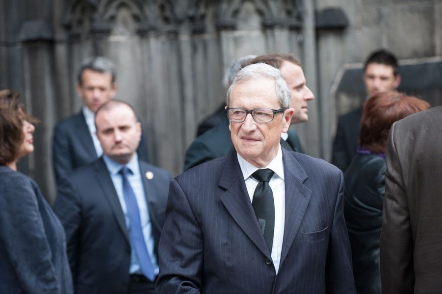 René Souchon aux obsèques de François Michelin à Clermont-Ferrand