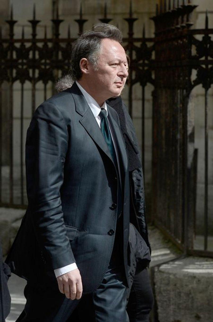 Le secrétaire d'Etat aux Sports Thierry Braillard aux obsèques de Florence Arthaud à Paris