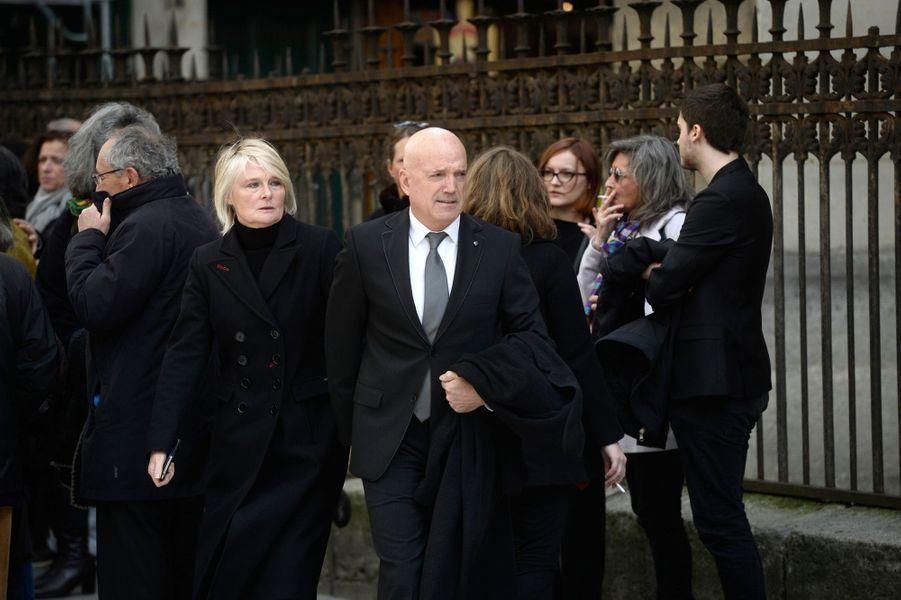 Louis Bodin aux obsèques de Florence Arthaud à Paris