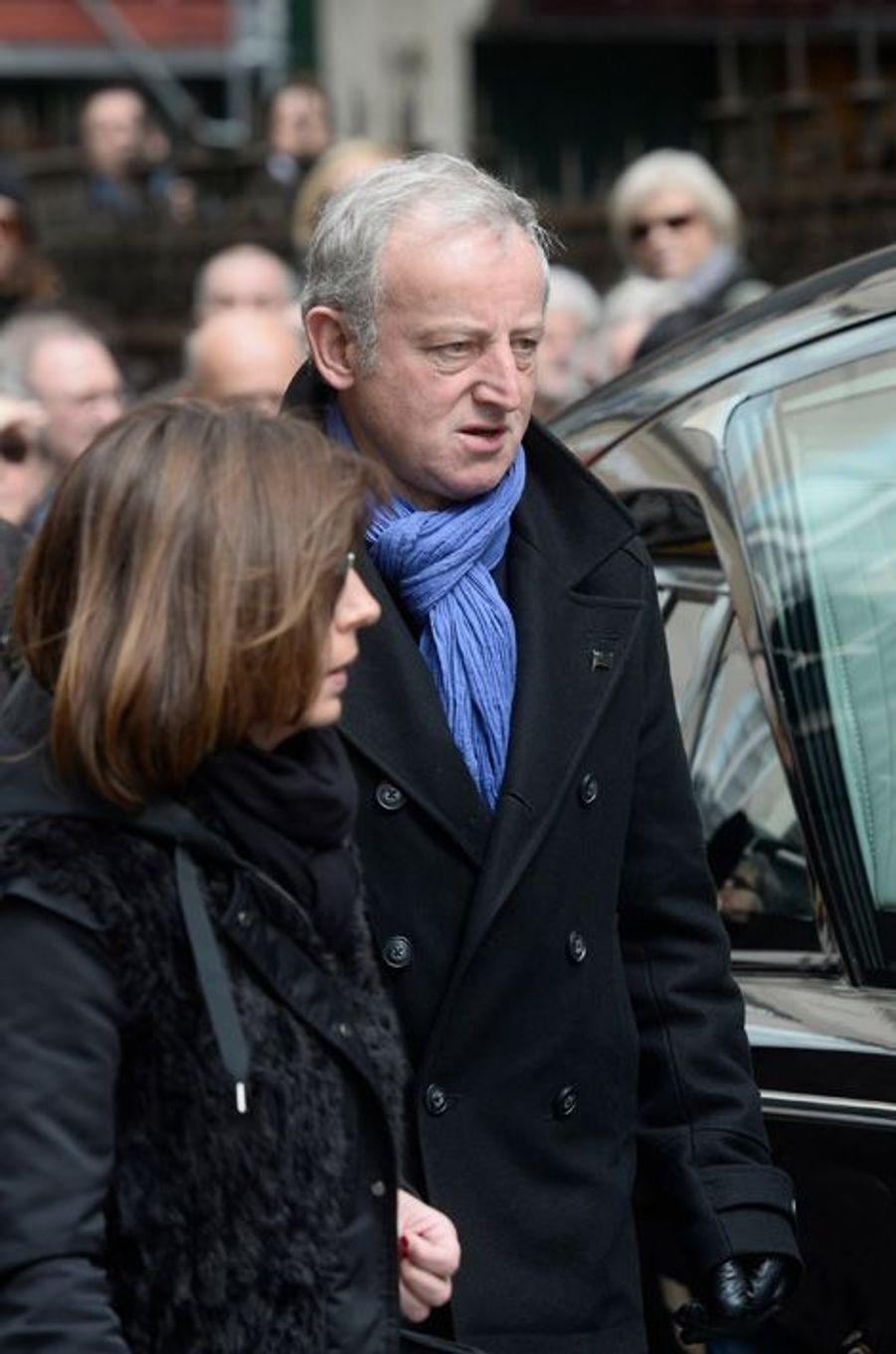 Yann Queffélec aux obsèques de Florence Arthaud à Paris