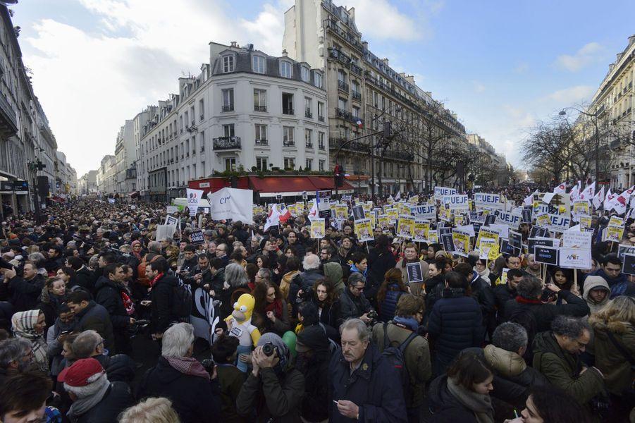 La marche républicaine à Paris