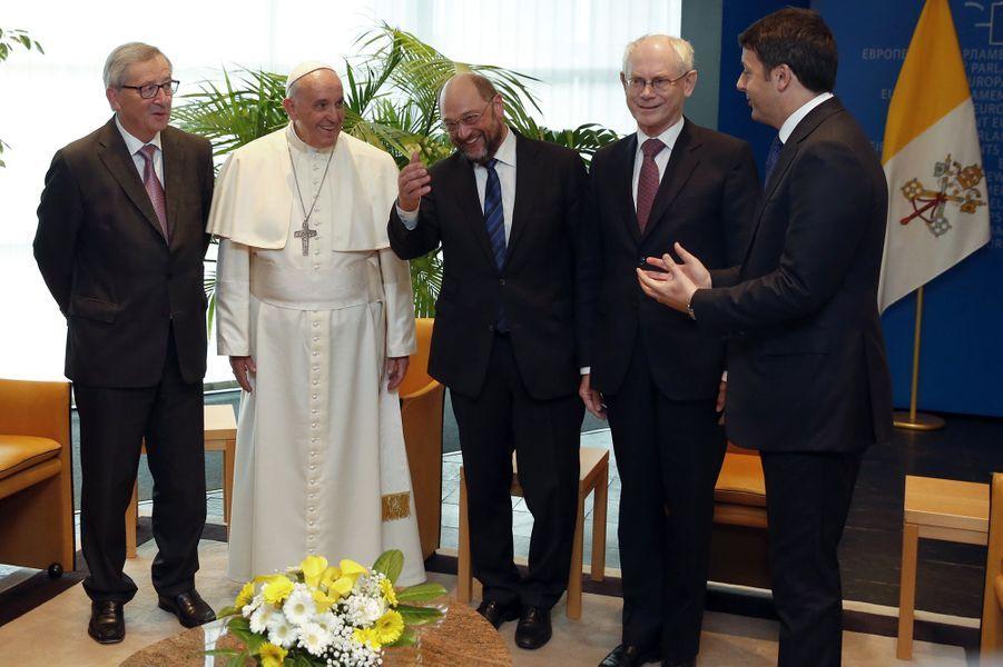 Le pape François au Parlement européen à Strasbourg
