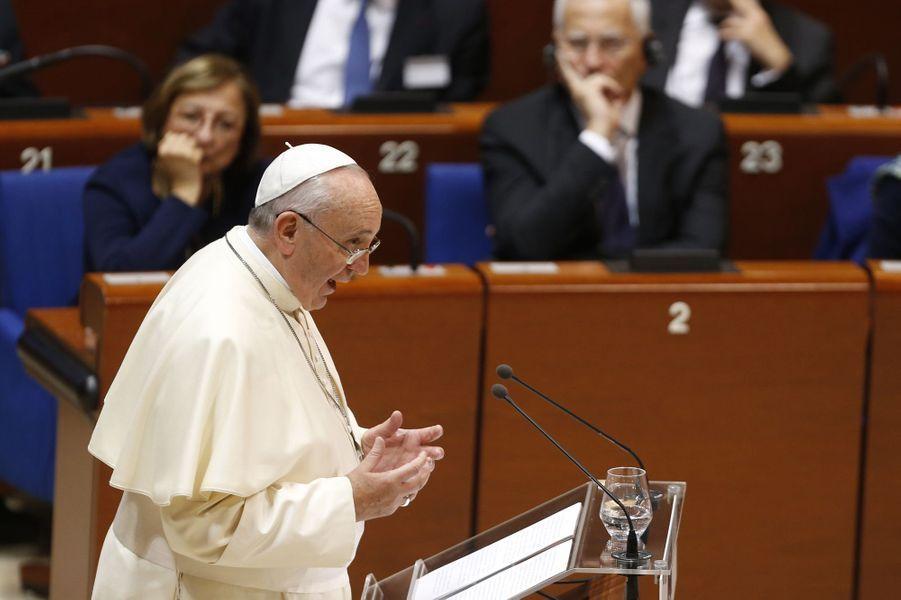 Le pape François devant le Conseil de l'Europe