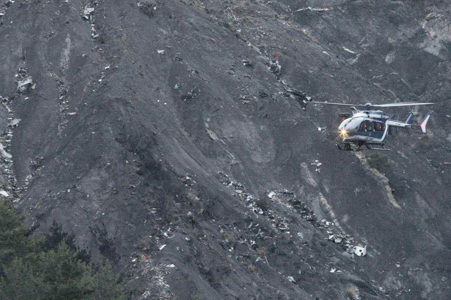 Les premières photos prises sur le lieu du crash
