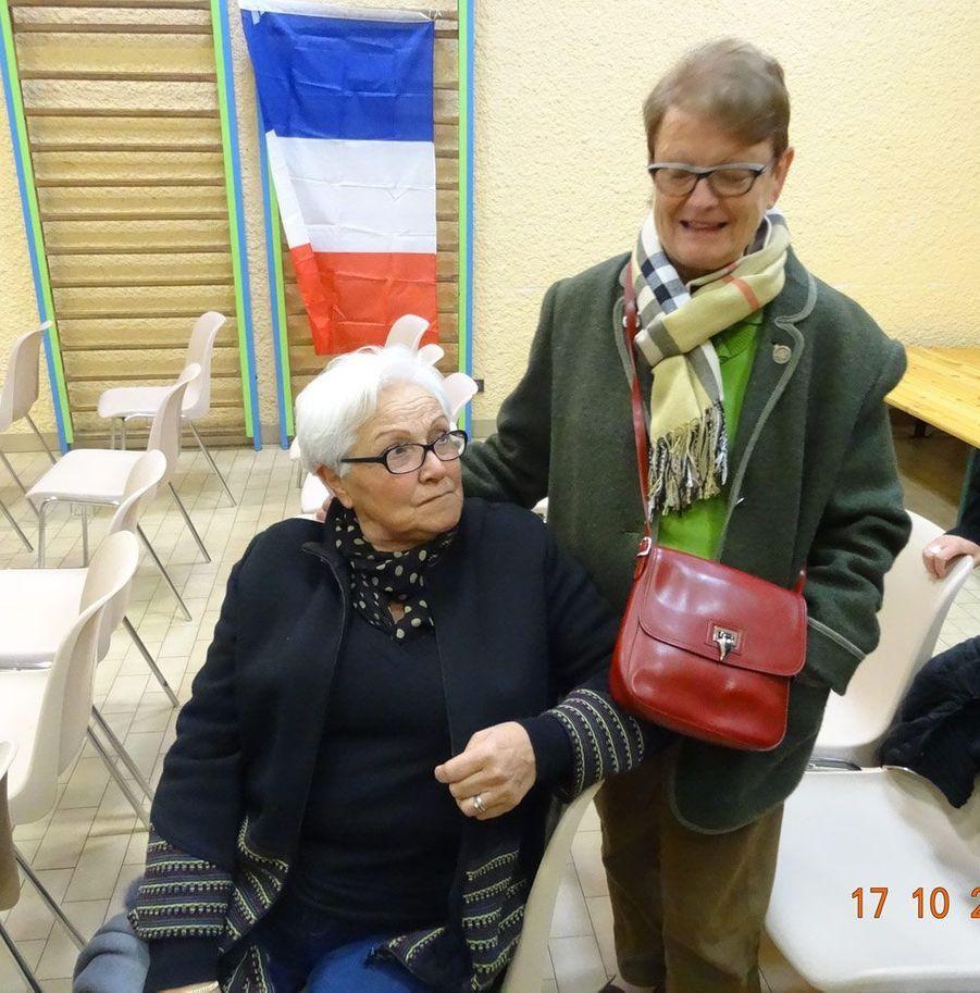 17 octobre dernier: Lucienne Guerineau et Catherine Buisson, supportrices du XV de France