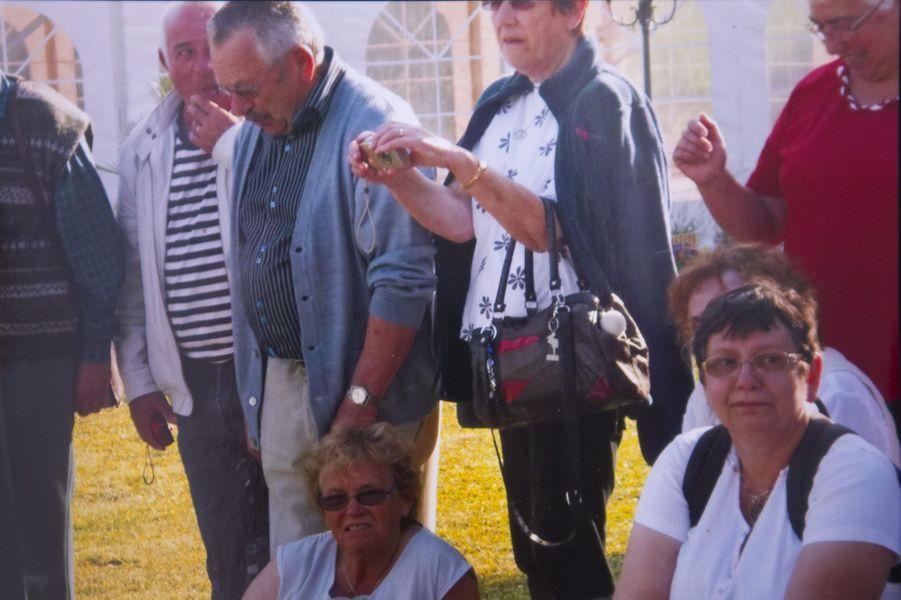 Lors d'un voyage en Normandie, Raymond Silvestrini, Michel Rogerie, Christiane Bouche, en bas à droite Marie-France Terrasson