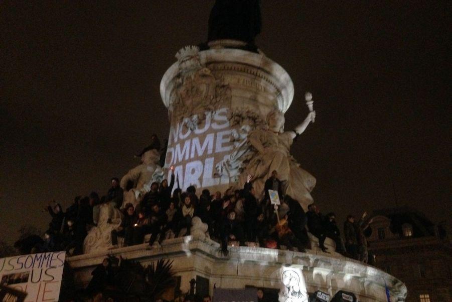 D'autres rassemblements spontanés ont eu lieu un peu partout en France ce mercredi 7 janvier.