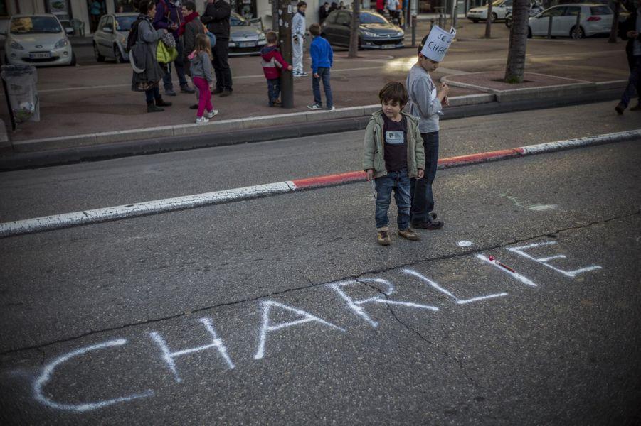 Marche républicaine à Marseille