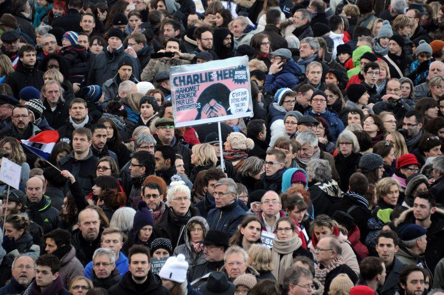 Marche républicaine à Nancy
