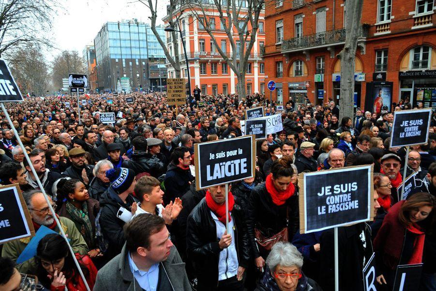 Marche républicaine à Toulouse