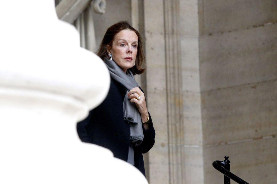 Catherine Nay à l'hommage à Christophe de Margerie qui a été rendu au sein de l'église Saint-Sulpice à Paris