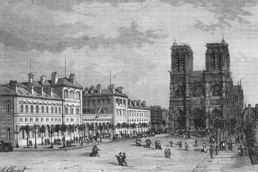 Notre-Dame de Paris en 1880.
