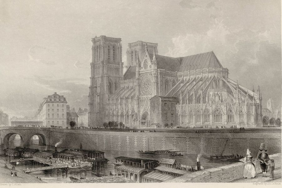 Vue de Notre-Dame en 1835.