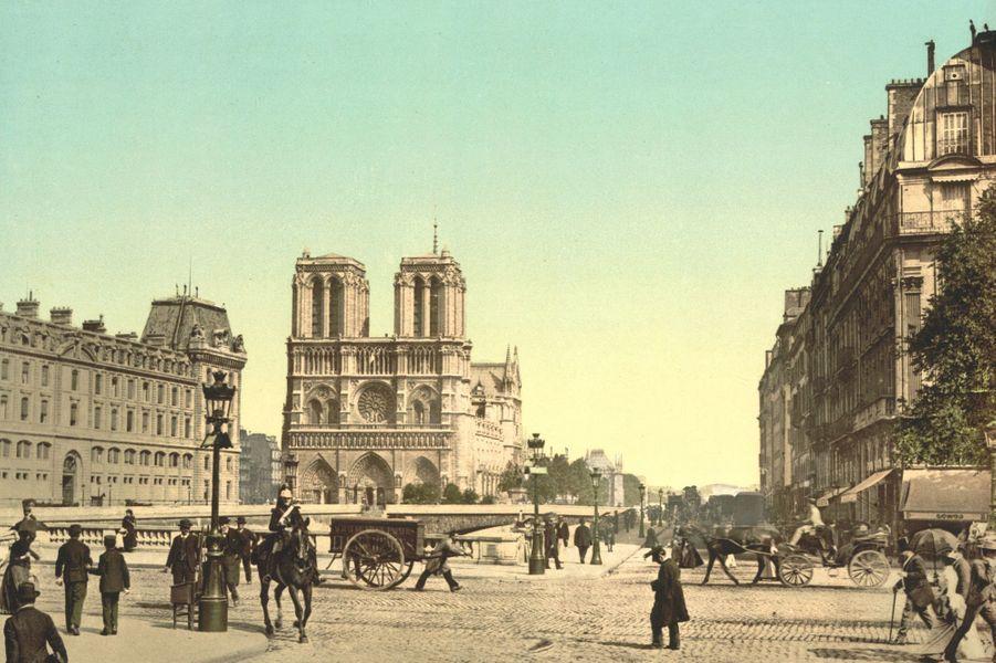 Notre Dame de Paris en 1890.